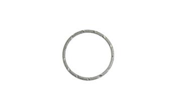 Gunmetal 34mm 12 Gauge Closed Soldered Diamond Cut Ring
