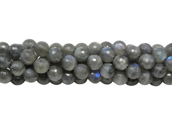 Labradorite A Grade Polished 8mm Faceted Round