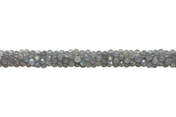 Labradorite A Grade Polished 4mm Faceted Round - Light