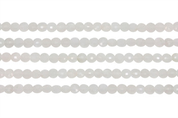 Rainbow Moonstone Polished 4mm Faceted Coin