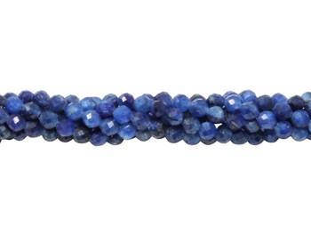Kyanite Polished 3mm Faceted Round - Dark Blue Enhanced