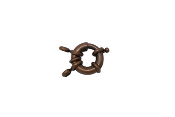 Antique Copper 15mm Spring Ring Clasp