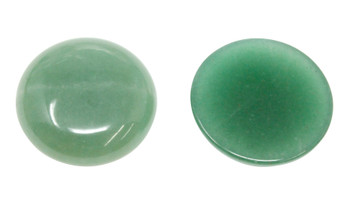 Green Aventurine Polished 30mm Cabochon Coin