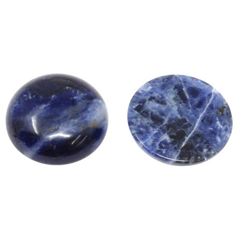 Sodalite Polished 20mm Cabochon Coin