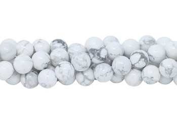 Howlite Polished White 12mm Round