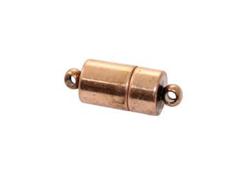 Antique Copper 17x7mm Magnetic Barrel Clasp