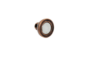 Antique Copper 14x8mm Round Magnetic Clasp