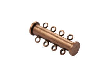 Antique Copper 26x10mm 4- Hole Magnetic Slide Clasp