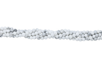 Howlite Polished White 6mm Round