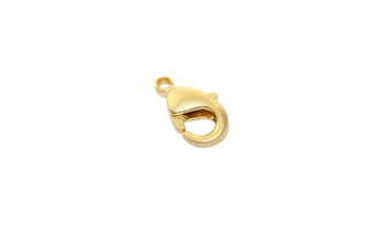 Satin Hamilton Gold 9x5mm Lobster Claw Clasp