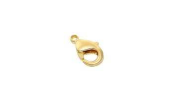 Satin Hamilton Gold 9x5mm Lobster Claw Clasp