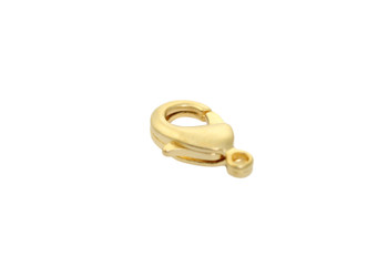 Satin Hamilton Gold 12x7mm Lobster Claw Clasp