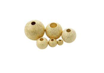 Gold 8mm Stardust Bead