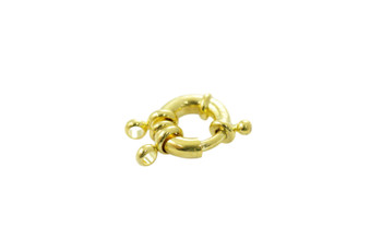 Gold 15mm Spring Ring Clasp