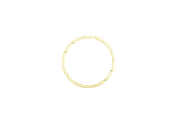 Gold 34mm 12 Gauge Closed Soldered Diamond Cut Ring