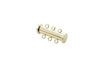 Gold 20x10mm 3- Hole Magnetic Slide Clasp