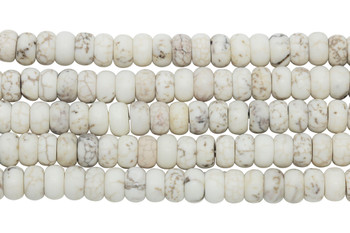 Howlite Natural Matte 5x8mm Rondel
