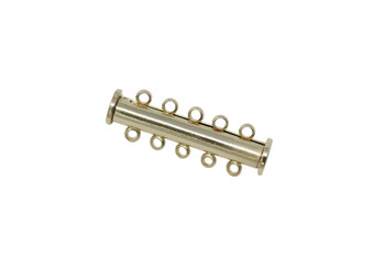 Gold 30x10mm 5- Hole Magnetic Slide Clasp