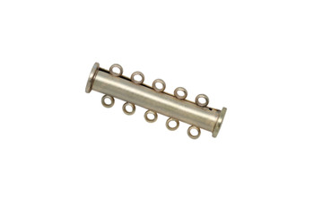 Satin Hamilton Gold 30x10mm 5- Hole Magnetic Slide Clasp