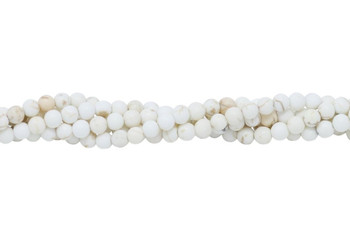 Howlite Natural Matte 4mm Round