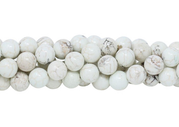Howlite Natural Polished 10mm Round