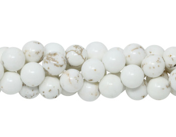 Howlite Natural Polished 8mm Round