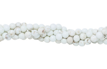 Howlite Natural Polished 5.5-6mm Round