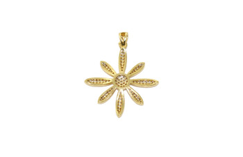 Gold 25mm Flower Micro Pave Charm