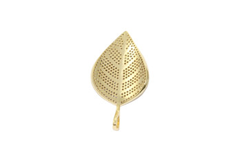 Gold 42mm Leaf Micro Pave Charm