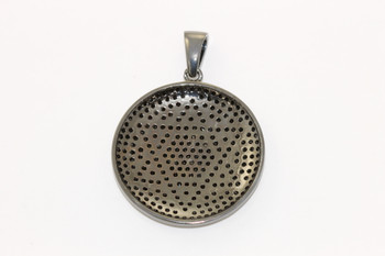 Gunmetal 37mm Star of David Micro Pave Pendant