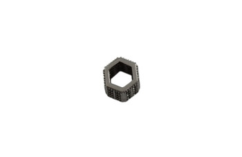 Black 8x9mm Hexagon Micro Pave Bead