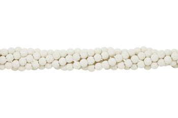Bead World Exclusive Lava Rock Uncoated White 8mm Round