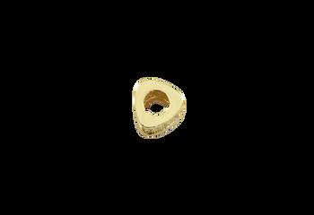Gold 6x7mm Micro Pave Triangular Barrel