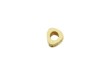 Gold 6x9mm Micro Pave Triangular Bead
