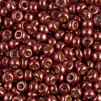 Size 6 Miyuki Seed Beads -- D4212 Duracoat Galvanized Dark Berry