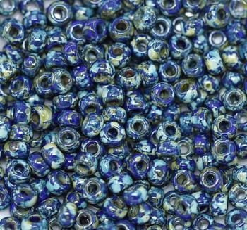 Size 6 Miyuki Seed Beads -- 4518 Picasso Cobalt