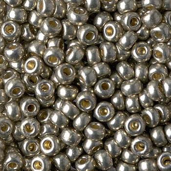 Size 6 Miyuki Seed Beads -- 4221 Duracoat Galvanized Light Smoky Pewter