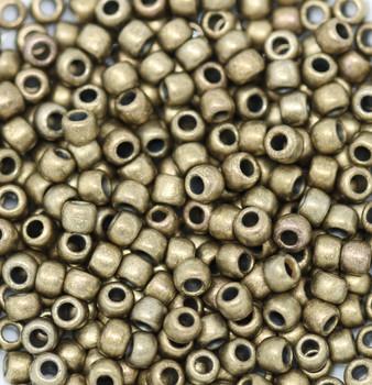 Size 6 Toho Seed Beads -- 457H Olivine Bronze