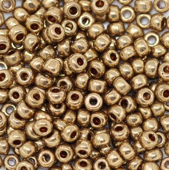 Size 6 Miyuki Seed Beads -- 457L Metallic Light Bronze