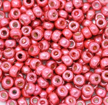 Size 6 Toho Seed Beads -- D4211 Duracoat Galvanize Light Cranberry