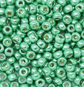Size 6 Miyuki Seed Beads -- D4214 Duracoat Galvanized Dark Mint Green