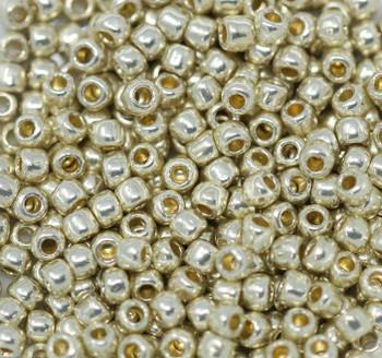 Size 6 Toho Seed Beads -- P470 Galvanized Silver