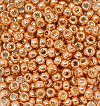 Size 6 Toho Seed Beads -- P481 Galvanized Rose Gold