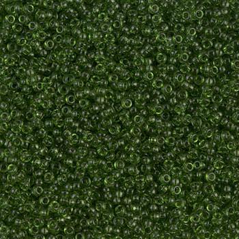 Size 15 Miyuki Seed Bead -- 158 Transparent Olive Green