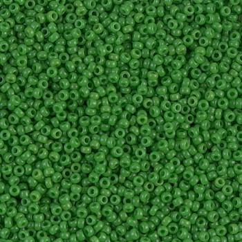 Size 15 Miyuki Seed Beads -- 411 Opaque Pea Green