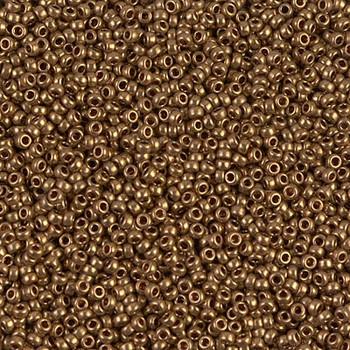 Size 15 Miyuki Seed Beads -- 457L Metallic Light Bronze