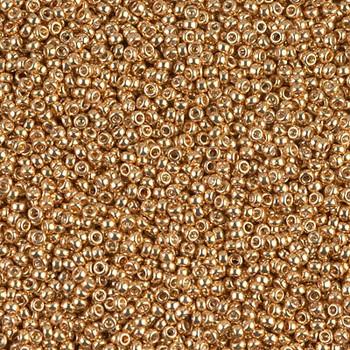 Size 15 Miyuki Seed Beads -- 1053 Galvanized Yellow Gold
