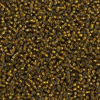 Size 15 Miyuki Seed Beads -- 1421 Olive / Silver Lined
