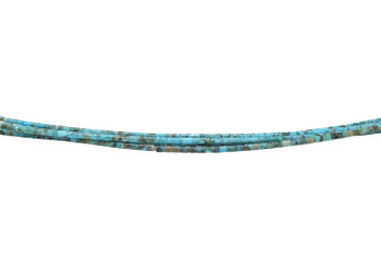 Kingman Turquoise Polished 2mm Heishi
