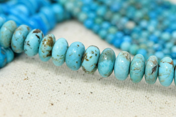 Kingman Turquoise Polished 5-8mm Rondelle